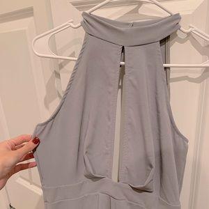 *NWT* Charlotte Russe cutout grey dress - Medium